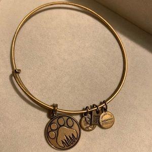 Jewelry - Gold paw print Alex and Ani charm bracelet